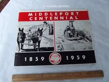 Book 1859 1959 Village of Middleport NY Centennial New York 100th Anniversary
