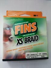Fins XS Braid Fishing Line 15 lbs 150 yd WHITE