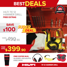HILTI TE 12 HAMMER DRILL, L@@K, FREE MUG, BUNCH OF EXTRAS, MADE IN GERMANY