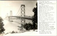 Vtg 1910's RPPC, San Francisco Bay Bridge, Real Photo, California CA Postcard