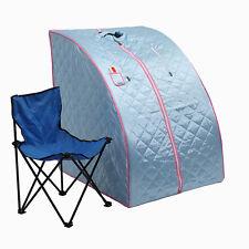 Portable Therapeutic Folding Spa Home Steam Sauna Detox Heat Therapy Blue
