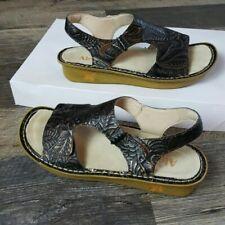 Alegria floral brown sandals women size 37