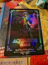SAINT SEIYA ANIME FAN CARD FANCARD S1S CARDDASS PRISM HOLO CARTE AQUARIUS CAMUS