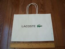 Lacoste Paper Bag, Small White, Nwot