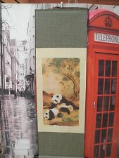 PANEL ENROLLABLE PINTURA CLASICA CHINA EN SEDA NATURAL 140 X 45 CMS BANDEROLA