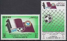 Qatar 1992 ** Mi.997/98 Fußball Football Flaggen Map