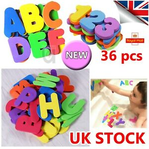 36x Child Toddler Kids ABC 123 Foam Letters Numbers Bath Tub Swimming Play Toys