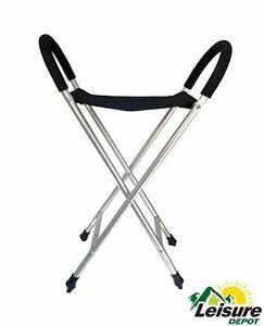 Walking Stick Chair Seat Lightweight Camping Caravan Hiking Trekking Stool