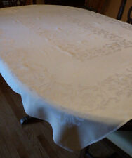 Vintage Damask Tablecloth, Pale Yellow, 66x50