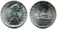 #ITALY REPUBBLICA 500 LIRE ARGENTO CARAVELLE 1966 Fdc