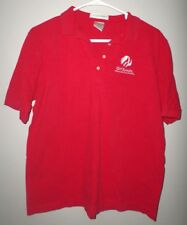 "GIRL SCOUTS med polo shirt red GSA embroidery Where Girls Grow Strong"" logo"