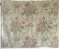 Beautiful 1930's French Printed Linen Floral Fabric   (2621)