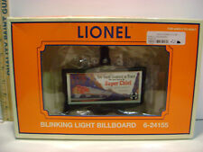 NIB LIONEL TRAIN Blinking Light Billboard # 6-24155