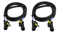 Quality HID KIT 24'' 2 feet Extension Wire Harness Cadillac FORD HONDA GM Ducati