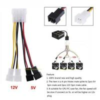 1-10X 4-Pin Ide Molex Auf 3-Pin 12v 5v Fan Stromkabel Adapter Splitter Anschluss