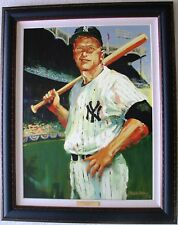 """MALCOLM FARLEY """"MICKEY MANTLE"""" TRIPLE CROWN LIMITED EDITION CANVAS Giclee"""