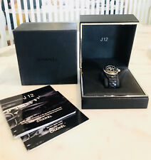 Chanel J12 H0681 Black Ceramic Watch w/ Rubber Strap Quartz - Mint Condition