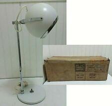 NOS Vintage ART SPECIALTY Atomic Eyeball Desk Lamp MCM White Chrome NIB Lighting