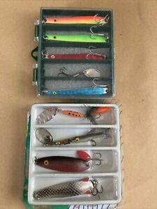 JOB LOT OF 9 VINTAGE FISHING ANGLING SPINNER LURE UNUSED