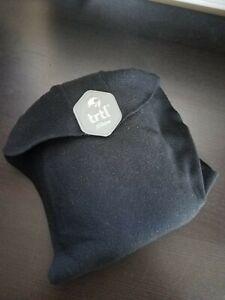 Trtl Travel Neck Pillow Black Fleece Sleeping Support Machine Washable
