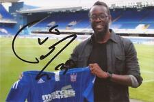 IPSWICH: LARSEN TOURE SIGNED 6x4 PORTRAIT PHOTO+COA