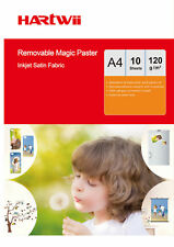 10 Sheets A4 Self-adhesive 100% Waterproof  Repeated Sticky Photo Paper Fabric