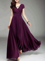 Women Formal Bridesmaid Evening Cocktail Wedding Gown Party Prom Long Maxi Dress