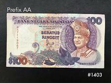 Malaysia -6th $100 Prefix AA | VF