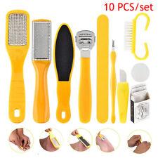 10Pc/Set Pedicure Kit Rasp Foot File Callus Remover Scraper Salon Nail Care Tool