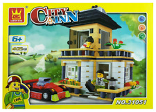 House Building Blocks Bricks -City Inn Tan- Wange