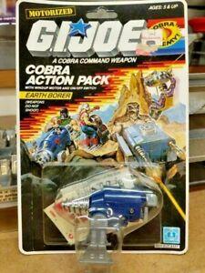 1987 Earth borer Cobra action pack GI Joe figure 3.75 new on card NOC complete