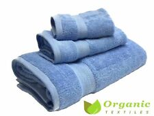100% Organic Cotton Terry Bath Towels 3-pieces set - Rose Burgundy
