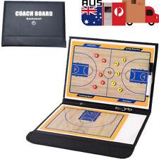 Basketball Coaching Board Coaches Clipboard Tactical Kit PU Leather 32*54CM