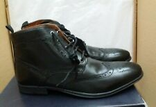 ALBERTO TORRESI Lace Up Leather Boots - Black - UK 13