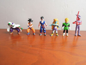 Lot 6 mini Figurines Dragon Ball Z Bandai Toys BS STA figure AB