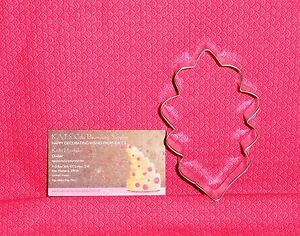 "Oak Leaf,4 "" Metal Cookie Cutter, Fall, Autumn,Harvest,Thanksgiving"