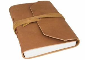 Beatnik Leather Journal Tan, A5 Plain Pages - Handmade by Life Arts
