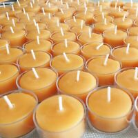 🐝 100% Beeswax Tealight Candles BULK USA Honey Tea Lights Bees Wax / Emergency
