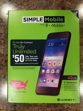 "New Simple Mobile LG Rebel 4 5.0"" 4G LTE 16GB 8MP Prepaid Smartphone T-mobile"