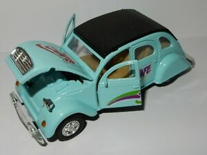 rare WELLY 1/34 123 MM CITROEN 2CV bleu clair moteur à friction #9046 no box