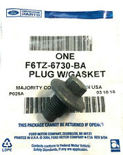 (1) NEW GENUINE FORD OEM Engine Oil Drain Plug with Gasket F6TZ6730BA
