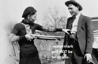 1932 Bonnie Parker Shotgun PHOTO Gangster Bonnie and Clyde Gang Gun Play