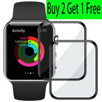 3D Full Curved Tempered Glass Screen Protector For iWatch Apple Watch 38mm 42mm