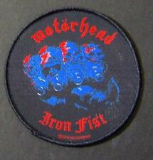 OFFICIAL LICENSED - MOTORHEAD - IRON FIST ALBUM SEW ON PATCH METAL LEMMY