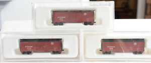 N Scale-Con Cor Custom Class CCM 101-103 NYS&W Boxcar Lot of 3 408 419 427