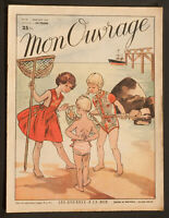 'MON OUVRAGE' FRENCH VINTAGE NEWSPAPER HOLIDAY ISSUE JULY 1953