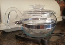 Vintage Pyrex Flameware Teapot 6 Cup Tempered Glass