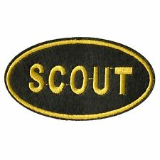 BOY SCOUT iron on Patch 1pc simple to use quality made patch QUICK-N-EASY 2 USE