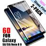 1x/2x 6D Full Cover für Samsung Galaxy S8 S9 Note 9 8 Plus 9H-Schutzglasfolie Yd