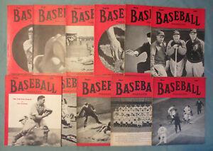 Baseball Magazine 1940 11 issue lot Cincinnati Reds World Champions
